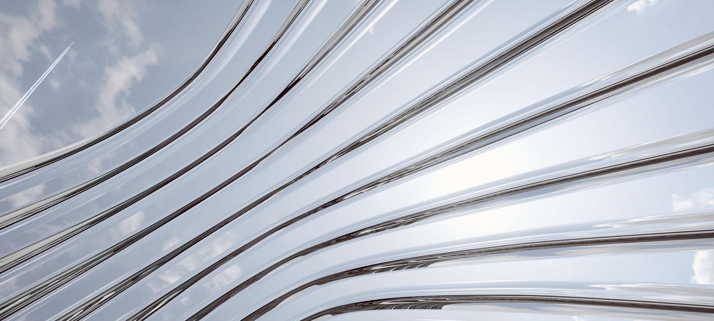 detalle de los arcos curvados de nawa desde su interior