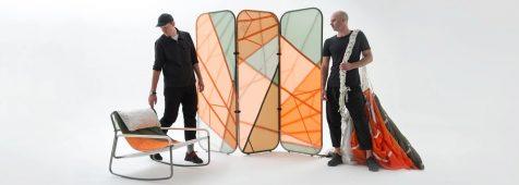 Layer y Raeburn convierten restos de paracaídas en mobiliario descarado