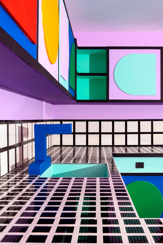detalle de las piezas lego en 2d usadas en la construccion de house of dots