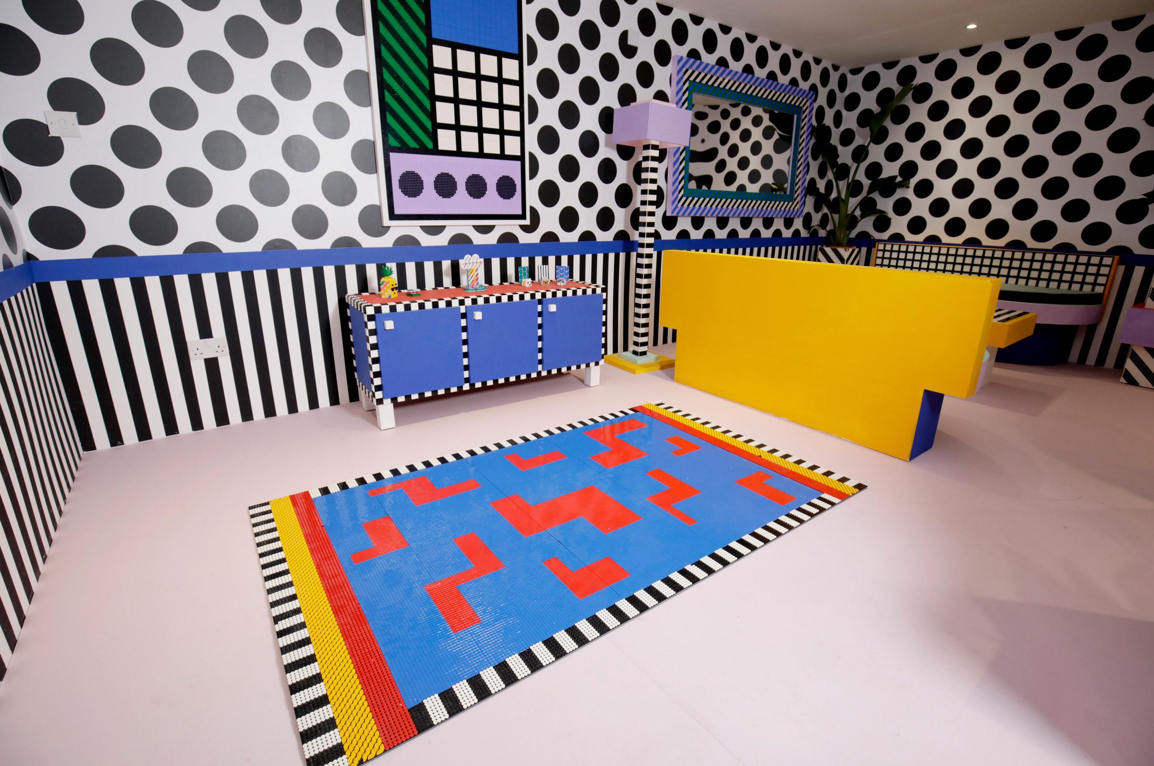 espacio en house of dots de la artista camile walala