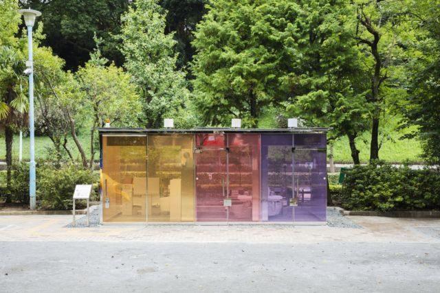 Baños públicos transparentes, una atrevida realidad en Shibuya